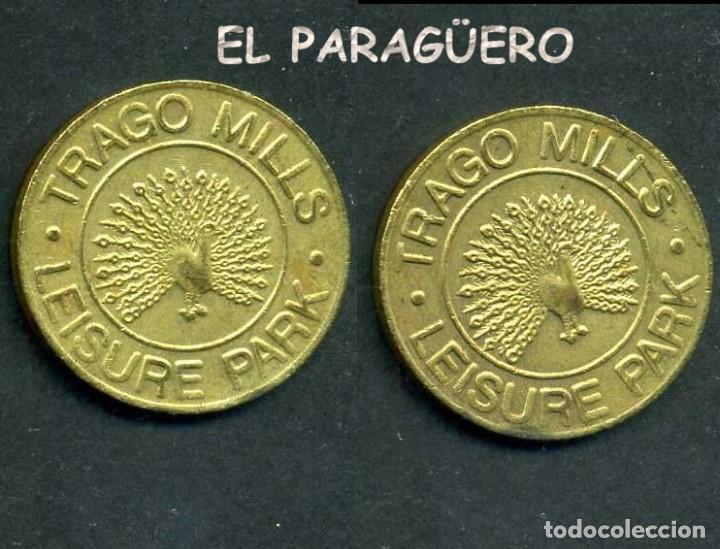 JETON - FICHA - TOKEN - TRAGO MILL LISUR PAK - ( PAVO REAL ) Nº14 (Numismática - España Modernas y Contemporáneas - Locales y Fichas Dinerarias y Comerciales)