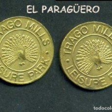 Monedas locales: JETON - FICHA - TOKEN - TRAGO MILL LISUR PAK - ( PAVO REAL ) Nº14. Lote 209061426