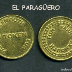 Monedas locales: JETON - FICHA - TOKEN - 1 TOKEN - ( EXMOUTH PARQUE DE DIVERSIÓN ) Nº17. Lote 209064183