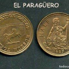 Monedas locales: JETON - FICHA - TOKEN - AÑO 1987 1/2 PENY ( MUSEUN TOKEN IRONBRID GORGE - PUENTE DE HIERR ) Nº22. Lote 209065590