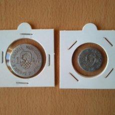 Monedas locales: SERIE ARENYS DE MAR. MARESME. 1 PESETA Y 50 CÉNTIMOS. GUERRA CIVIL. 1 PESSETA I 50 CÉNTIMS. VER FOTO. Lote 209390087