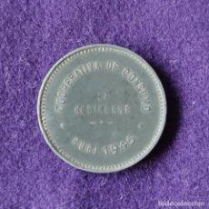 Monedas locales: FICHA MONEDA COOPERATIVA OBRERO DE CONSUMO LA RUBINENSE. 1945. 2 PESETAS. RUBI (BARCELONA).. Lote 209693072
