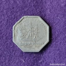 Monedas locales: FICHA MONEDA CAMARA DE COMERCIO DE BAYONA. 50 CENTIMOS. 1920. ALUMINIO. PAIS VASCO FRANCES.. Lote 209771432