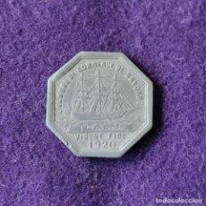 Monedas locales: FICHA MONEDA CAMARA DE COMERCIO DE BAYONA. 25 CENTIMOS. 1920. ALUMINIO. PAIS VASCO FRANCES.. Lote 209771611