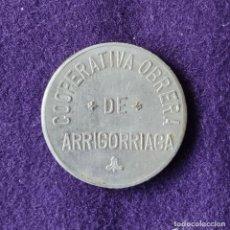 Monedas locales: FICHA MONEDA COOPERATIVA OBRERA. 2 PESETAS. ARRIGORRIAGA (VIZCAYA).. Lote 209772080