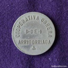 Monedas locales: FICHA MONEDA COOPERATIVA OBRERA. 5 PESETAS. ARRIGORRIAGA (VIZCAYA).. Lote 209772116