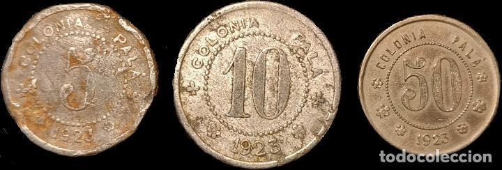 Monedas locales: AL3122-24 Fichas de la Colonia Palà - Puigreig (5, 10 y 50 cts) - Foto 2 - 210078372