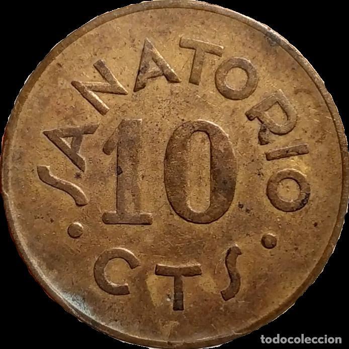 AL NO CAT - SANATORIO DE SANT BOI - 10 CTS (Numismática - España Modernas y Contemporáneas - Locales y Fichas Dinerarias y Comerciales)