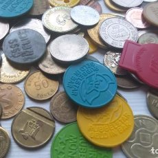 Monedas locales: LOTE DE MÁS 100 TOKEN / JETON / FICHA TELÉFONO ETC..VER FOTOS. Lote 210576775