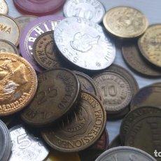 Monedas locales: LOTE DE MÁS 100 TOKEN / JETON / FICHA TELÉFONO ETC..VER FOTOS. Lote 210578795