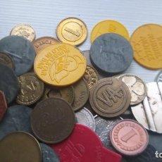 Monedas locales: LOTE DE MÁS 100 TOKEN / JETON / FICHA TELÉFONO ETC..VER FOTOS. Lote 210579743