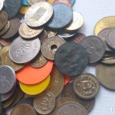 Monedas locales: LOTE DE MÁS 100 TOKEN / JETON / FICHA TELÉFONO ETC..VER FOTOS. Lote 210580878