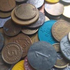 Monedas locales: LOTE DE MÁS 100 TOKEN / JETON / FICHA TELÉFONO ETC..VER FOTOS. Lote 210582210