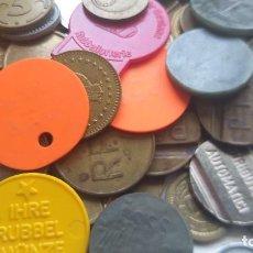 Monedas locales: LOTE DE MÁS 100 TOKEN / JETON / FICHA TELÉFONO ETC..VER FOTOS. Lote 210584420