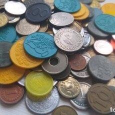 Monedas locales: LOTE DE MÁS 200 TOKEN / JETON / FICHA TELÉFONO ETC..VER FOTOS. Lote 210585971