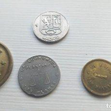Monedas locales: 3 MONEDAS 5 Y 1 PESETA COOPERATIVA LAS PLANAS + 1 TOKEN FILIPINO MADRID. Lote 210589858