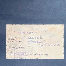 Monedas locales: VALE POR UN BARRIL GOMAROS. RAFAEL ORTEGA SALIDO. JEREZ. 1958. VER FOTOS.. Lote 210825429
