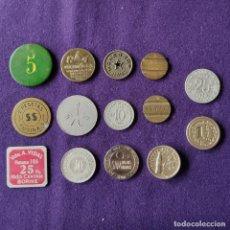 Monedas locales: 13 FICHAS DIFERENTES. MONEDAS DE MERCADOS. EMPRESAS. EVENTOS. COOPERATIVAS.. Lote 210942822