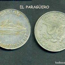 Monedas locales: JETON - FICHA - TOKEN - 1 DOLAR GAMIN TOKEN ( CASINOENTRETENIMIENO - BARCO O CRUCERO ) Nº23. Lote 211629334