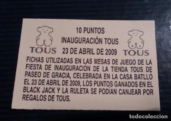 Monedas locales: LOTE DE 3 FICHAS DE JUEGO DE LA TIENDA TOUS - Foto 3 - 211672530
