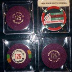 Monedas locales: LOTE DE 4 FICHAS DE CASINOS - BARCELONA. Lote 211675363