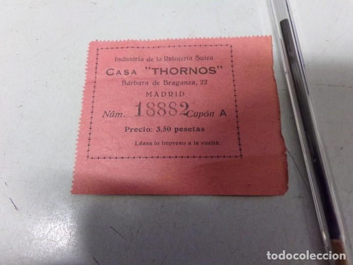 BILLETE CUPON PAPEL CASA THORNOS (Numismática - España Modernas y Contemporáneas - Locales y Fichas Dinerarias y Comerciales)