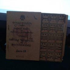 Monedas locales: CARTILLA DE RACIONAMIENTO 1943. Lote 236658805