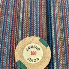 Monedas locales: PRECIOSA FICHA DEL CASINO DE IBIZA EIVISSA VALOR 100. Lote 212495662