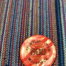 Monedas locales: PRECIOSA FICHA DEL SPORTING CLUB CASINO DE MALLORCA VALOR 500. Lote 212496608