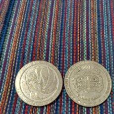 Monedas locales: DOS GRANDES FICHAS CASINO LAS VEGAS MGM Y GOLDEN NUGGET. Lote 212611098