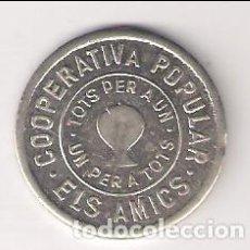 Monedas locales: 1 PESETA DE LA COOPERATIVA POPULAR ELS AMICS DE TERRASSA DE 1935. RARA. ANTONI LÓPEZ-143. (C51). Lote 212684518