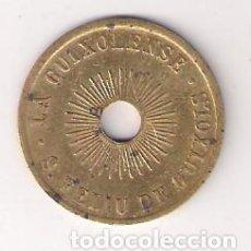 Monedas locales: 5 CÉNTIMOS DE LA GUIXOLENSE DE SANT FELIU DE GUIXOLS DE 1925. AGUJERO CENTRAL. ESCASA. (C118). Lote 212688485