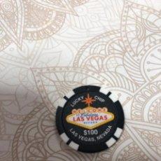 Monedas locales: FICHA DE CASINO LAS VEGAS LUCKY CHIP. Lote 213542290