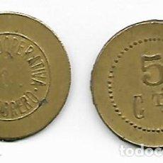 Monedas locales: COOPERATIVA ADELANTO OBRERO 5 CTS.. Lote 214369353