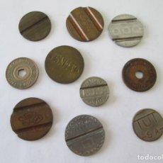 Monedas locales: LOTE DE 10 FICHAS-TOKEN. Lote 214503570
