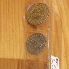 Monedas locales: 3 MONEDAS DE DISCOS. Lote 214504135