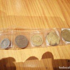 Monedas locales: 5 MONEDAS DE MONTE PÍO DE TRANVIAS. Lote 214575037