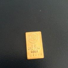 Monedas locales: LINGOTE DE ORO 5 GR 999,9 ASOCIADOS ESPAÑOLES SEMPSA JP. Lote 216914681