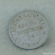Monedas locales: RARA FICHA LOCAL COCINA ECONOMICA AVILA SANTA TERESA ALUMINIO 5 CENTIMOS. Lote 217222752