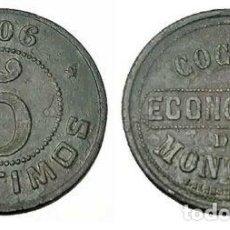 Monedas locales: 041.RARA Y BONITA MONEDA - FICHA 5 CTMOS. 1906 (COCINA ECONOMICA DE MONTORO) CORDOBA. Lote 217871390