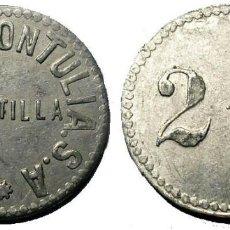 Monedas locales: 042.RARA Y BONITA MONEDA - FICHA 25 CTMOS. (BODEGAS MONTULIA) MONTILLA - CORDOBA. Lote 217871405
