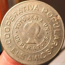 Monedas locales: AL144 - COOPERATIVA ELS AMICS DE TERRASSA - 5 PESETAS. Lote 217946685