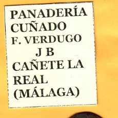 Monedas locales: FICHAS DE LA PANADERÍA J B DE CAÑETE LA REAL (MÁLAGA). Lote 218234245