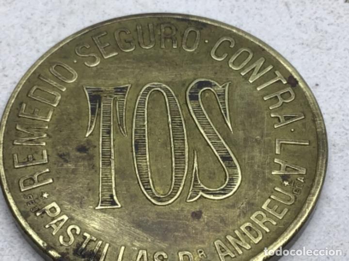 Monedas locales: FICHA COMERCIAL - PASTILLAS CONTRA LA TOS DOCTOR ANDREU - BARCELONA - Foto 2 - 218239777