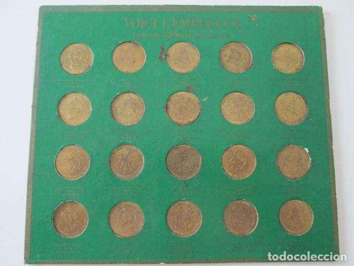 COLECCION DE 20 FICHAS DEL BICENTENARIO * PUBLICIDAD DE TOTAL * FRANCIA (Numismática - España Modernas y Contemporáneas - Locales y Fichas Dinerarias y Comerciales)