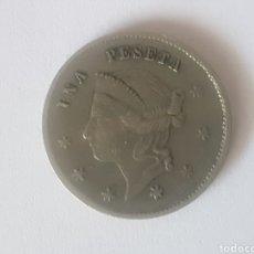 Monedas locales: FICHA DE CASINO A CLASIFICAR VALOR UNA PESETA MUY BONITA.. Lote 218460587