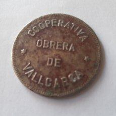 Monedas locales: PRECIOSA MONEDA DE 5PESETAS VALLCARCA. Lote 220843915