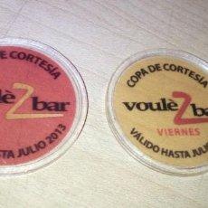 Monedas locales: 2 FICHAS VOULE BAR COPA DE CORTESIA SEVILLA. Lote 221337881
