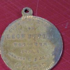 Monedas locales: RARA MEDALLA O FICHA PUBLICIDAD CUCHILLERÍA LEÓN DUFOUR. MADRID. 1880 ALFONSO XII. Lote 221687661