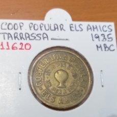 Monedas locales: MONEDA COOPERATIVA DE 5 CÉNTIMOS. AMICS DE TARRASSA 1935. Lote 221707895